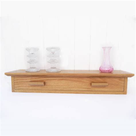 Shelf With Drawer by Oak Shelf With Drawer By Cairn Wood Design