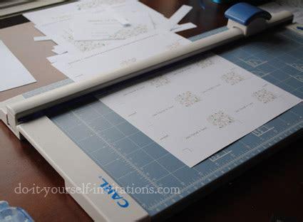 do it yourself place cards templates diy menu card template