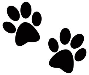 Two Dog Paw Prints Clip Art Pictures Of Dogs Paw Print Silhouette