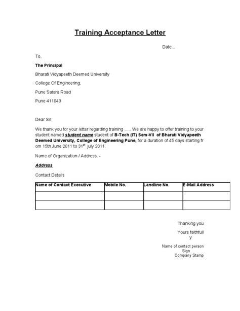 certification acceptance letter acceptance letter