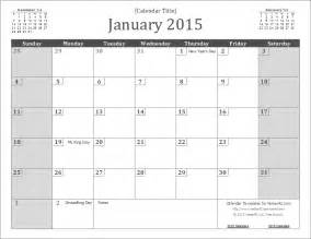 Monthly 2015 Calendar Templates by 2015 Calendar Templates And Images