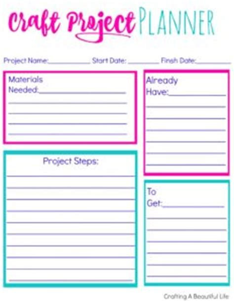 Galerry craft project planner printable