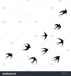 template images swallows template vector silhouette 357444551