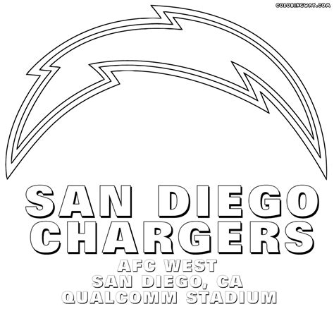 nfl chargers coloring pages nfl logos coloring pages coloring pages to download and