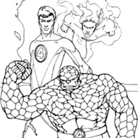 The Thing Running Coloring Pages Hellokids Com The Thing Coloring Pages