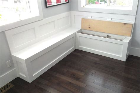 built in storage bench plans kitchen bench seating with storage plans