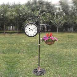 outdoor standing clock with planter sam s club
