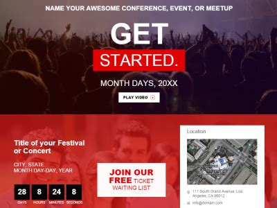 Conference Event Meetup Summit Website Template By Irving Rivera Dribbble Conference Website Template Free