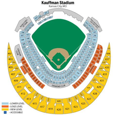 kauffman stadium map kauffman stadium seating chart kauffman stadium tickets kauffman stadium maps