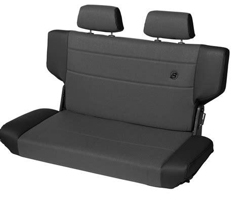 rear bench seats bestop trailmax ii fold tumble rear bench seat for