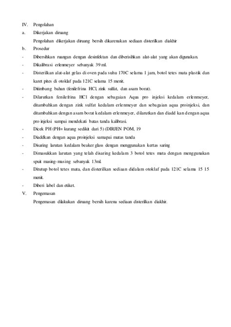 Asam Borat Pada Tetes Mata perbekalan ujian steril guttae opthalmicae phenil ephrine