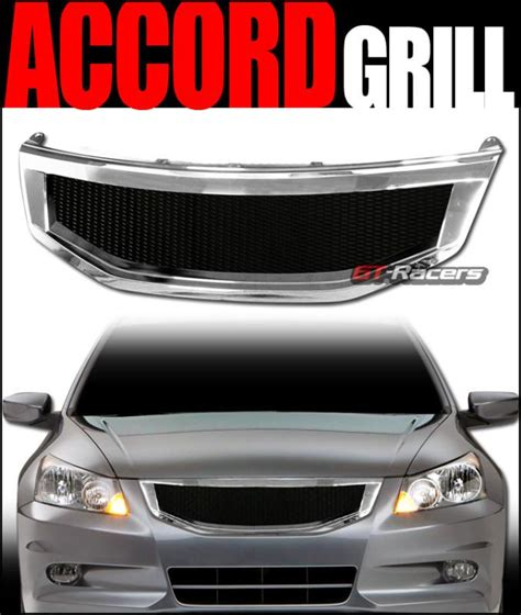 purchase chrome aluminum mesh front bumper grill grille 2011 2012 honda accord 4dr r