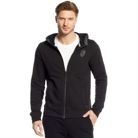 ferrari clothing men puma ferrari hooded sweat jacket in black for men lyst