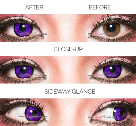 The Dolly Eye Black eos dolly eye violet circle lenses colored contacts