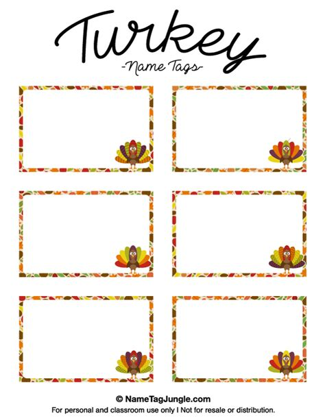 free printable turkey name tags free printable turkey name tags the template can also be