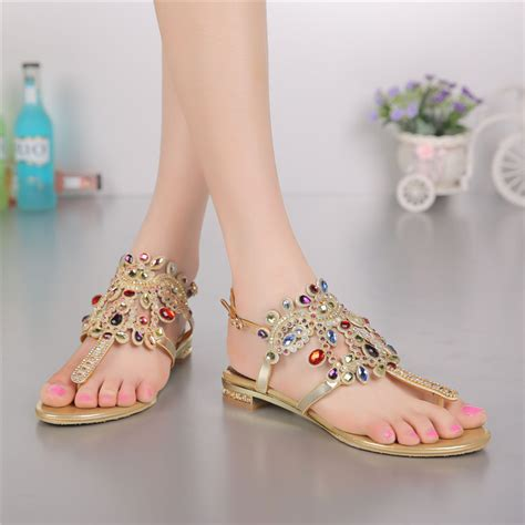 Promo Sandal Branded Wanita Burberry High Quality fashion plus size gold flat leather flip flops sandals bohemia luxury shoes for