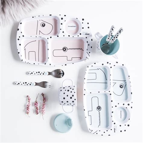 Home Interiors Figurines Done By Deer Happy Dots Starter Dinner Set Powder