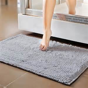 water resistant bath mat 50x80cm larger size soft shaggy floor mat family area rug