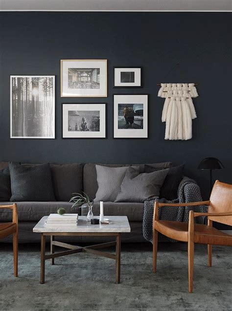 Dark Grey Living Room Walls Dark Grey Feature Wall Colours For Living Room Living Room
