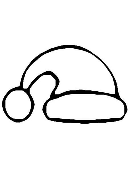 black and white christmas hat free printable santa hat coloring pages for