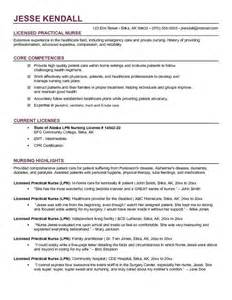 Exles Of Nursing Resume by Free Lpn Licensed Practical Resume Exle Crna ℓιfє The O Jays Nurses
