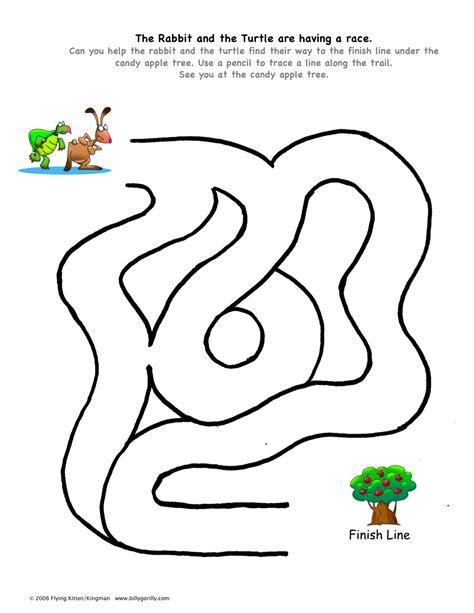 printable turtle maze rabbit turtle maze for the kids pinterest maze