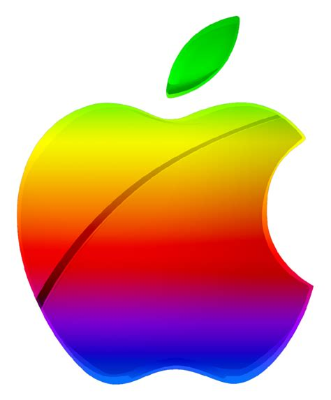 colored apple colored modern apple logo vector by greenmachine987 on