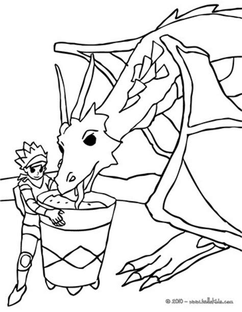 coloring pages knights and dragons knight feeding his dragon coloring pages hellokids com
