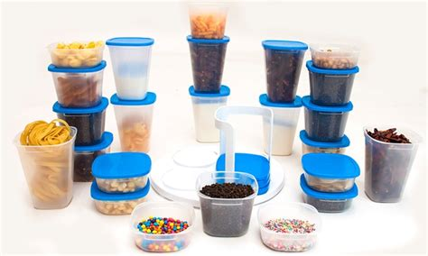 Marvel Spin N Store Kitchen Organizer With 24 Plastic Storage 1 jusqu 224 49 lot de 24 bo 238 tes de conservation groupon