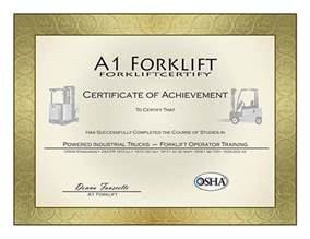 Forklift Certification Template Gallery For Gt Forklift Operator Certification