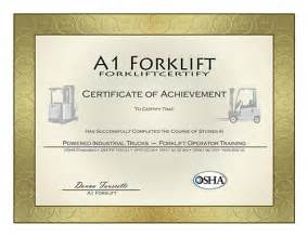 a 1 forklift certification training courses osha