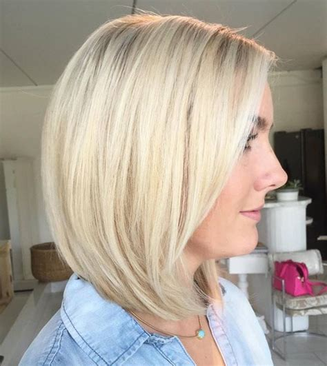 one length thick chunky bob 80 sensational medium length haircuts for thick hair in 2018