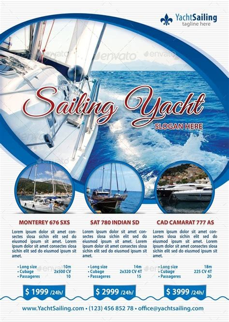 powerpoint templates yacht club sailing yacht club flyer template 96 by 21min graphicriver