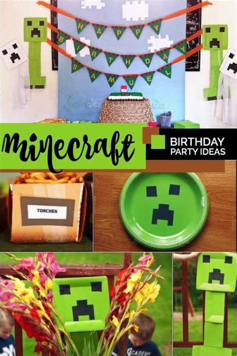 minecraft themed birthday party spaceships  laser beams