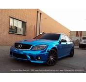 Mercedes Benz C63 Wrapped In Avery Blue Chrome By DBX