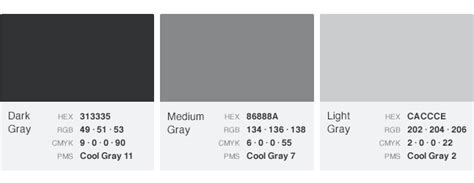 What Color Goes With Gray color palettes