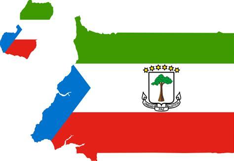 guinea ecuatorial map clipart equatorial guinea flag map