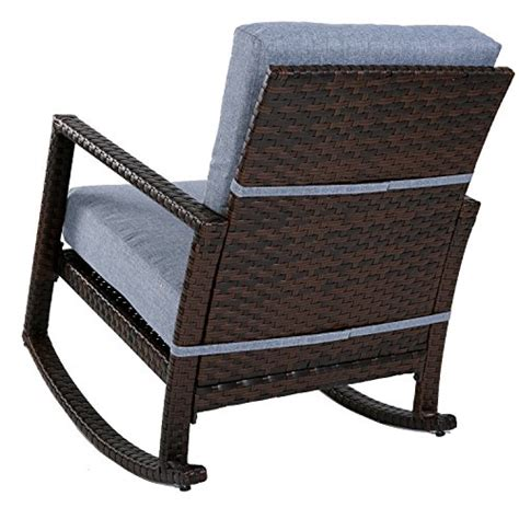 armchair glider rocker merax cushioned rattan rocker chair rocking armchair chair