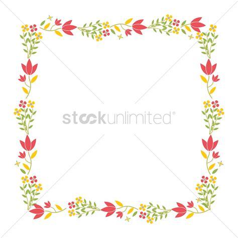 graphic design frame vector image of flower border design impremedia net