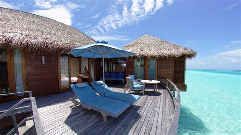 full hd wallpaper maldives resort bungalow azure ocean
