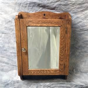 antique oak medicine cabinet vintage oak medicine cabinet