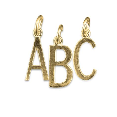 letter charm alphabet letter gold charm medium charms direct