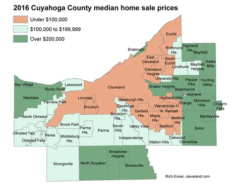 home prices up in most cuyahoga county towns in 2016