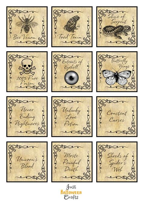 printable ingredient tags 1600 best halloween potions bottles labels