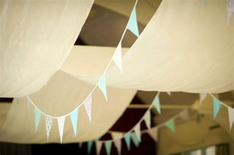 Diy Ceiling Draping by Bunting And Diy Ceiling Hangings Drapes Weddingbee Photo