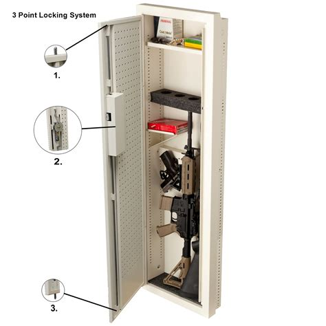 Locked Closet by Closet Vault Ii In Wall Firearms And Valuables Access Safe V Line