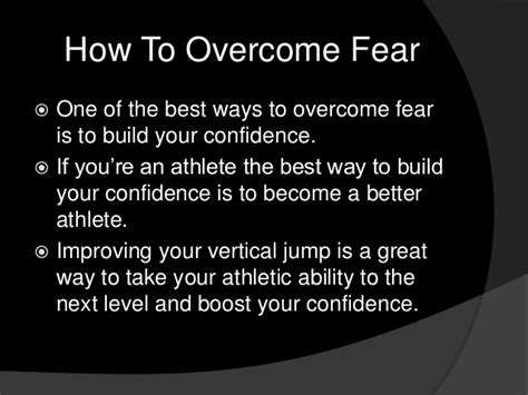 how to a fearful how to overcome fear for athletes