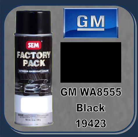 sem 19423 sem factory pack basecoat gm paint code wa8555 quot black quot 16oz aerosol
