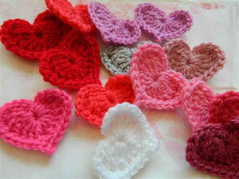 crochet hearts pinkfluffywarrior crochet pattern