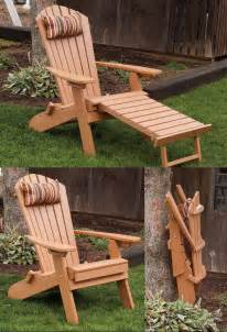 polywood adirondack chair with pull out ottoman folding reclining poly fanback adirondack chair w pull